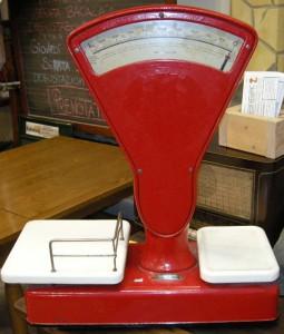 bilancia berkel 1931 62029 rossa dipinta