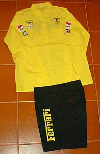 ABBIGLIAMENTO camicia e pantaloncini Ferrari
