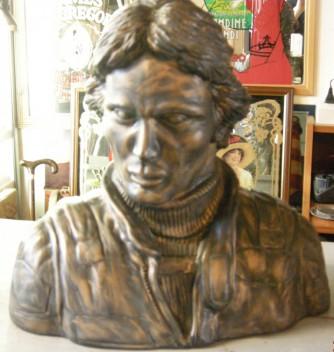 Busto Gilles Villeneuve Ferrari