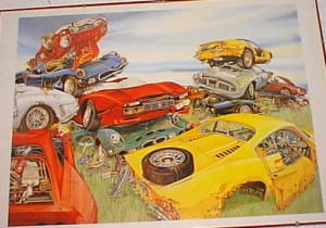 Stampa Ferrari autodemolizione