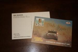 Cartolina autografata Miki Biasion