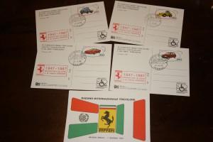 Serie cartoline Ferrari