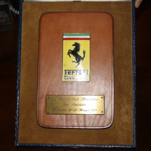 Targa dal Ferrari Club Italia al Ferrari Club Marostica, 1989