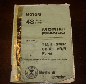 Libretto istruzioni 48cc Morini Franco