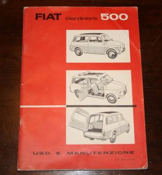 Libretto uso e manutenzione Fiat Giardiniera 500