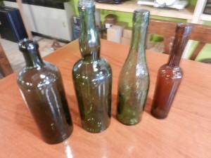 Bottiglie vecchie vetro anni 40
