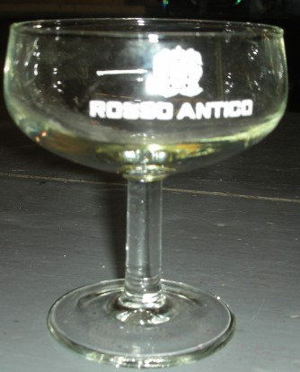 Bicchiere coppetta Rosso Antico