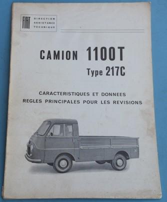 Depliant Fiat Camion 1100 T in Francese