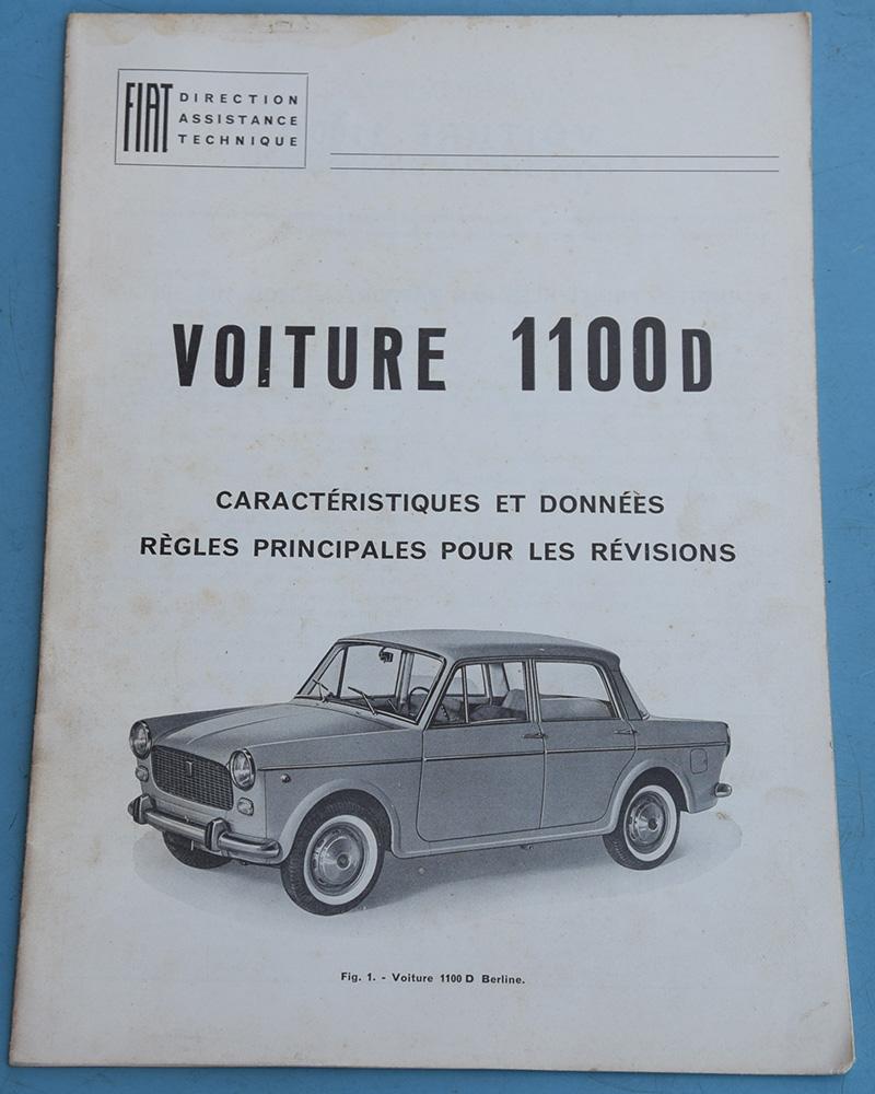 Depliant Fiat 1100 D in Francese