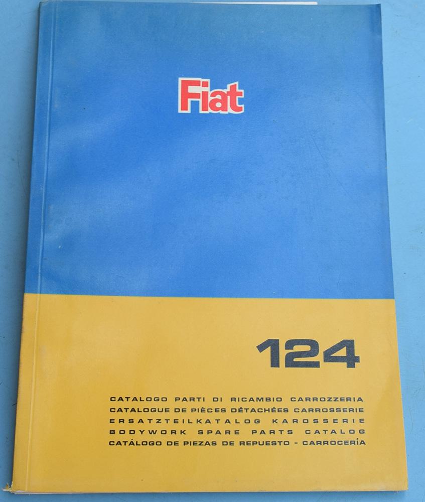 Depliant Fiat 124 Catalogo parti di ricambio carrozzeria