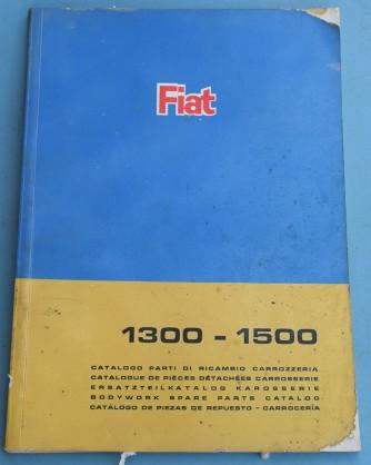 Depliant Fiat 1300-1500 Catalogo parti di ricambio carrozzeria