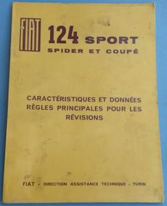 Depliant Fiat 124 Sport in Francese
