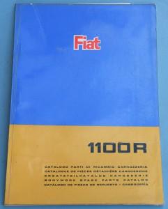 Depliant Fiat 1100 R Catalogo parti di ricambio carrozzeria