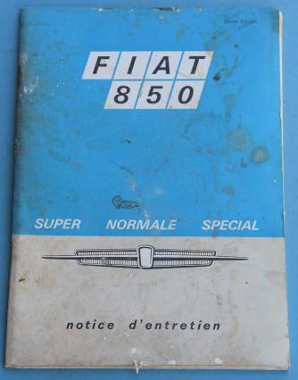 Depliant Fiat 850 in Francese