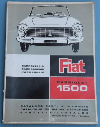 Depliant Fiat Cabriolet 1500 Catalogo parti di ricambio carrozzeria