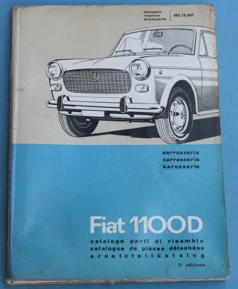 Depliant Fiat 1100 D Catalogo parti di ricambio carrozzeria