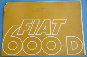 Depliant Fiat 600 D