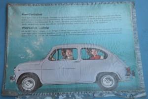 Depliant Fiat 600 D in Tedesco
