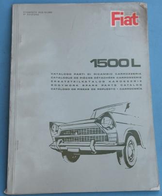 Depliant Fiat 1500 L Catalogo pezzi di ricambio carrozzeria