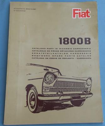 Depliant Fiat 1800 B Catalogo parti di ricambio carrozzeria