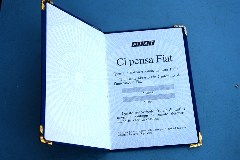 Libretto Fiat Blu