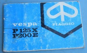 Depliant Piaggio Vespa P125X-P200E