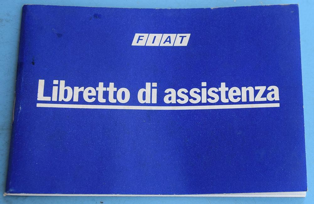 Deplian Fiat Libretto di assistenza