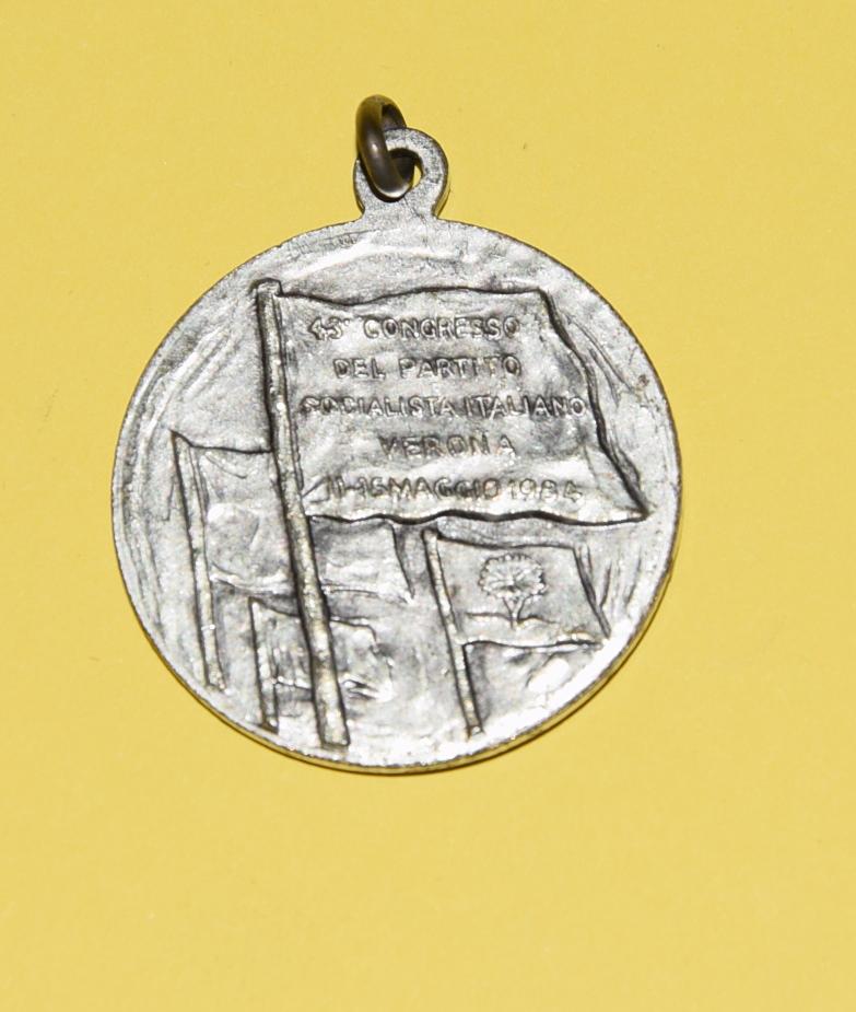 Medaglia congresso partito socialista italiano 1984