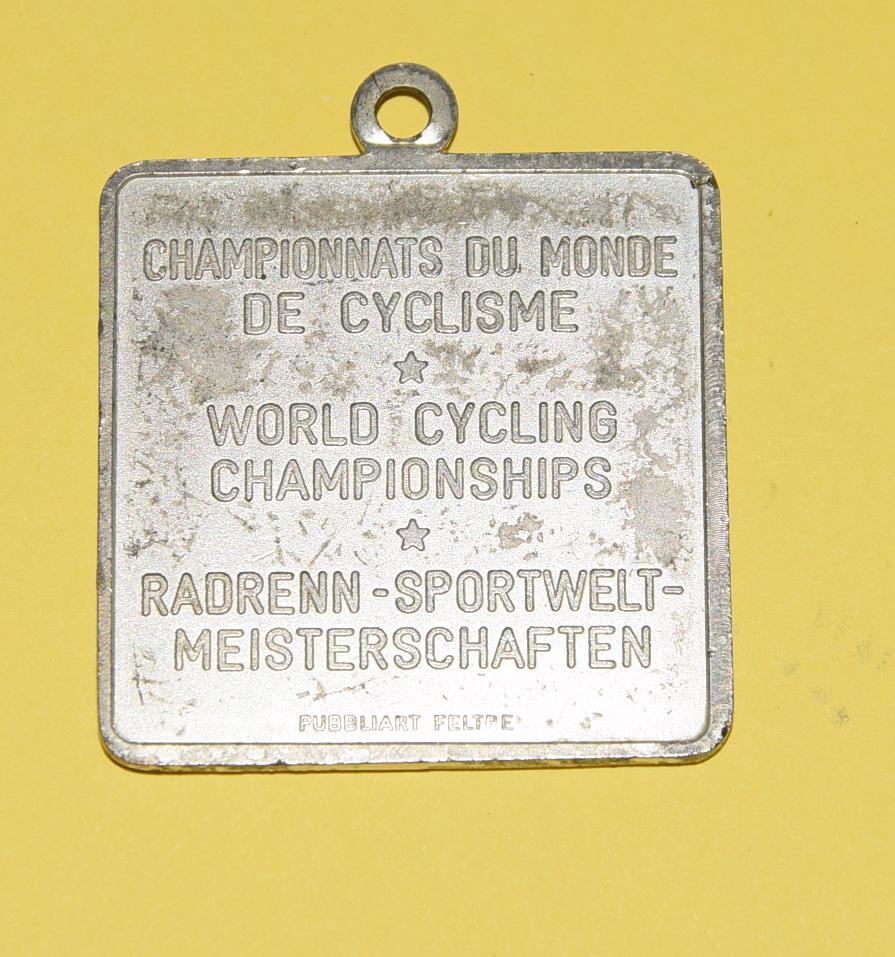 Medaglia campionati ciclismo Veneto 85
