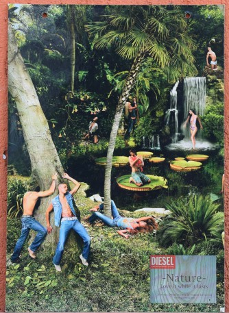 Diesel Jeans 3 cartoncini anni 80