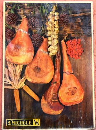 Stampa su legno prosciutti crudi S.Michele
