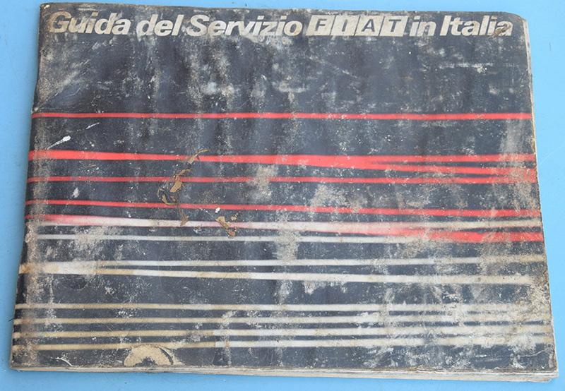 Fiat Libretto Guida del Servizio in Italia