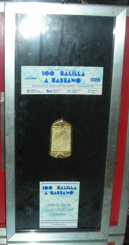 Targa 100 Balilla a Bassano 2^ Edizione del 90