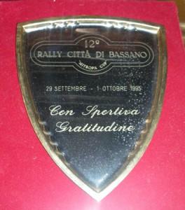 Targa 12° Rally Città di Bassano