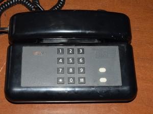 Telefono nero a tastiera