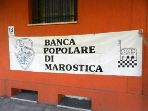 """Striscione Banca Popolare di Marostica anni 70 """"Momenti di Gloria"""""""
